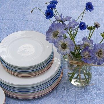 Rainbow Dinner Plate, Persian Blue