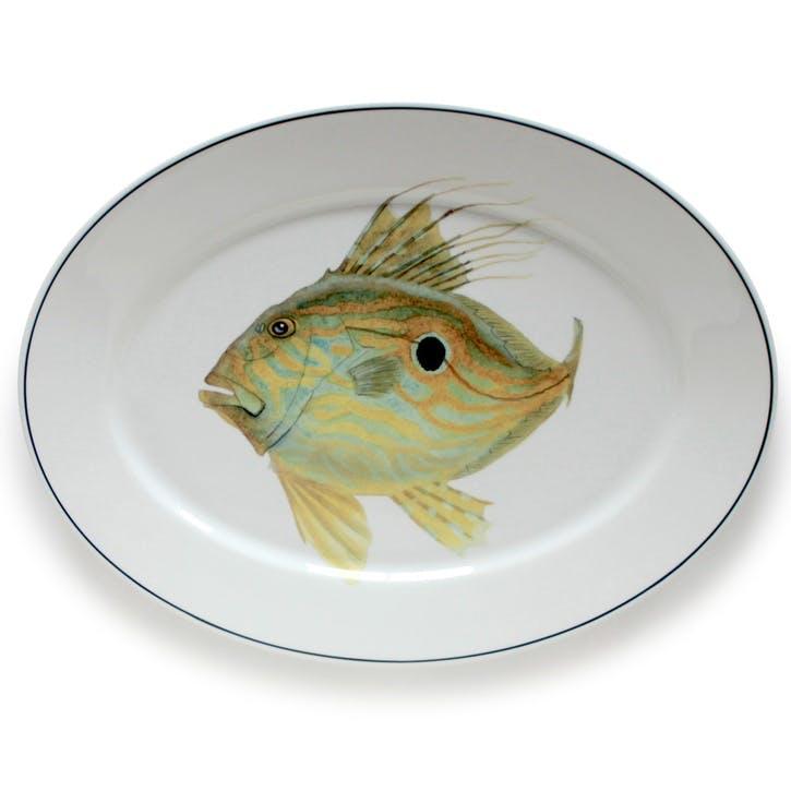 Seaflower John Dory Oval Platter, 42cm, Yellow