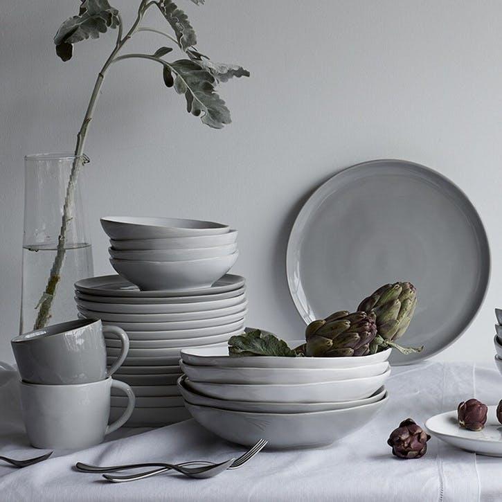 Portobello Pasta Bowl, Grey