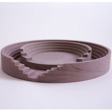 Scala Round Tray Set, Brick