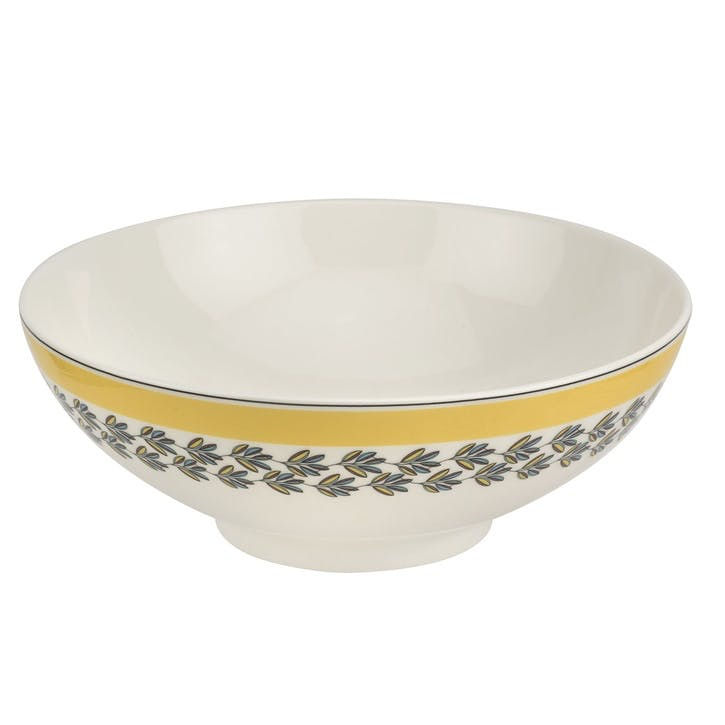 "Westerly Deep Bowl - 9.5""; Yellow Band"