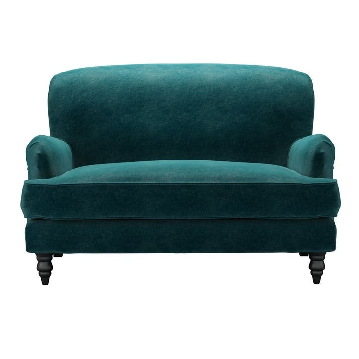 Snowdrop, Loveseat, Jade Smart Velvet