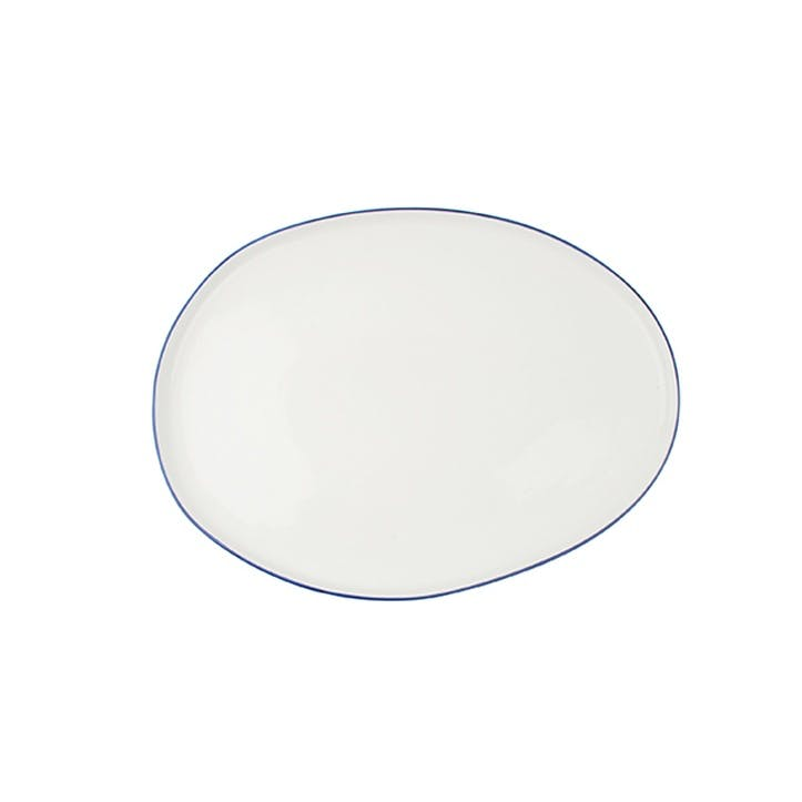 Abbesses Serving Platter, Blue