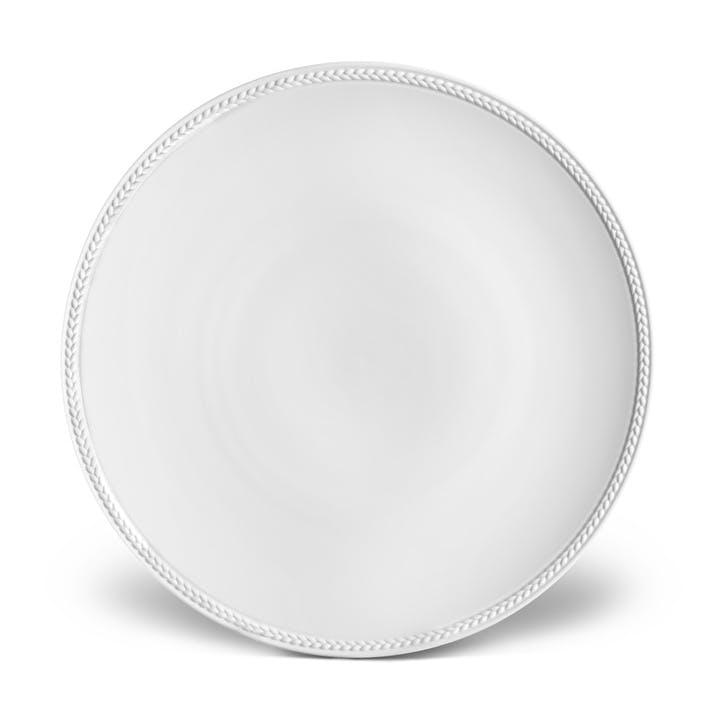 Soie Tressée Dinner Plate, White
