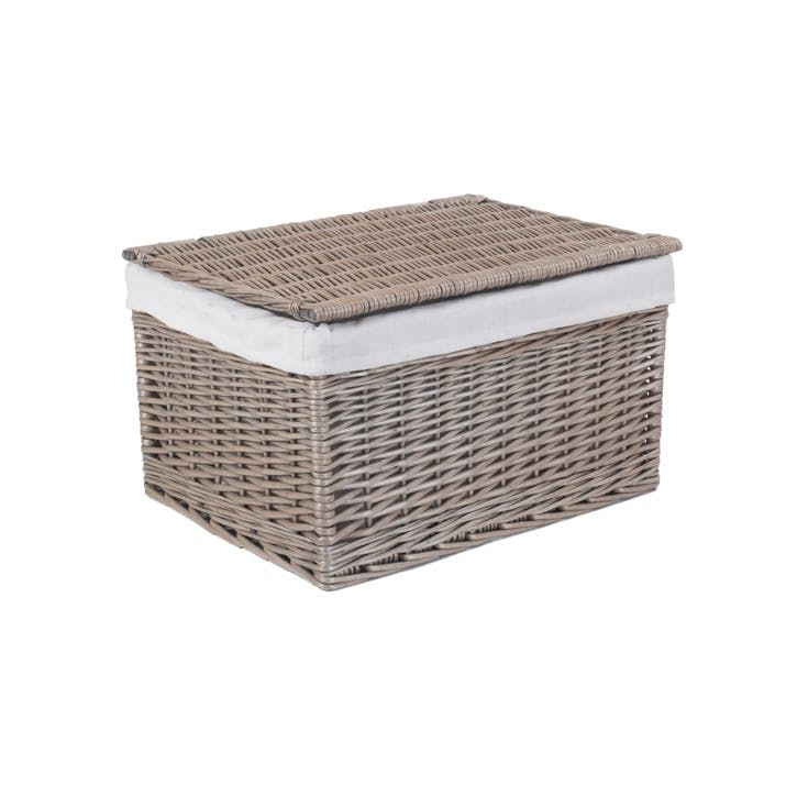 Antique Wash Lined Storage Hamper, Extra Large