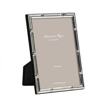 """Bamboo Silver Plated Photo Frame, 5"""" x 7"""""""