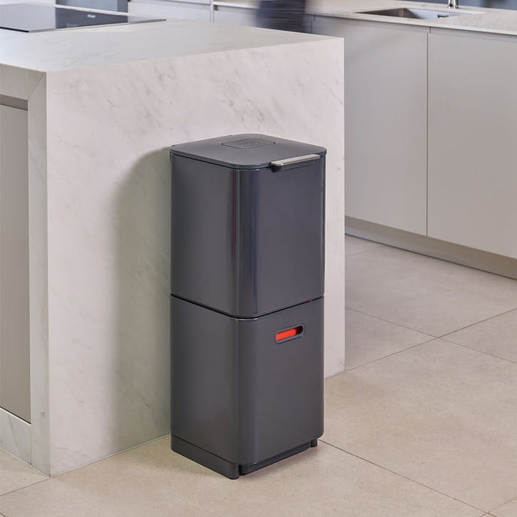 Totem Compact 40 Recycling Bin, Graphite