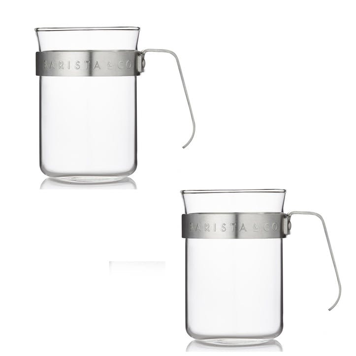 Metal Framed Cups, Set of 2, Electric Steel