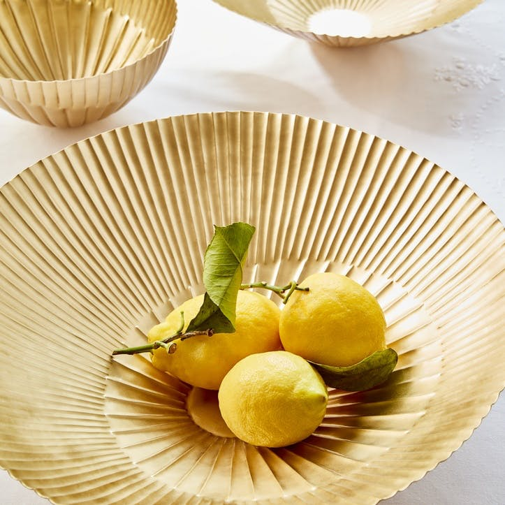 Ananda Brass Nested Bowls, Set of 3