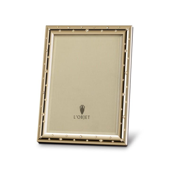 Stars Gold Photo Frame, 15 x 10 cm
