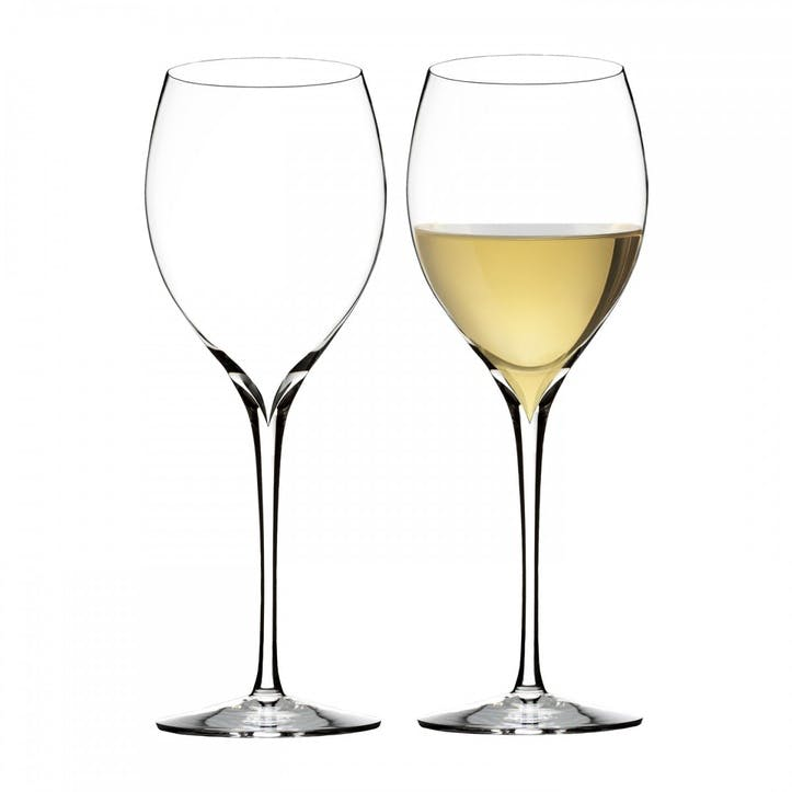 Elegance Crystal Chardonnay Wine Glass, Set Of 2