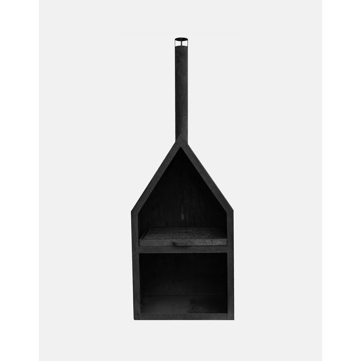 Henley, Outdoor Fireplace, Black
