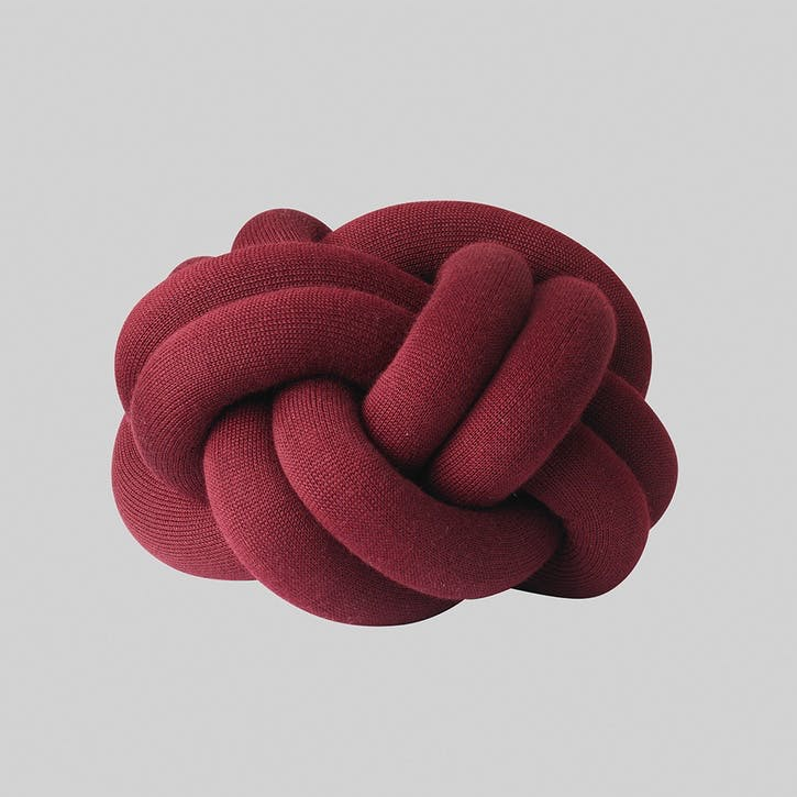Knot Cushion, Bordeaux