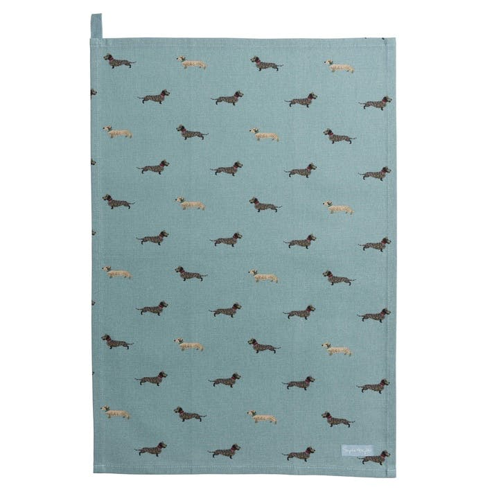 'Dachshund' Tea Towel