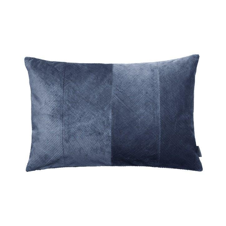 Corduroy Herringbone Cushion, Royal Blue