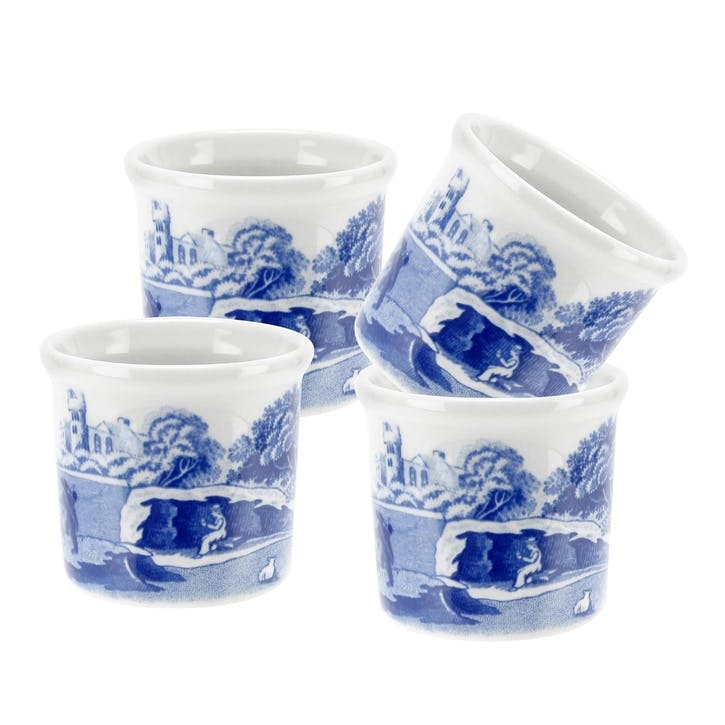 Blue Italian Eggcup, Set of 4