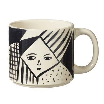 Mono Mug, H10 x D10cm, Black & White