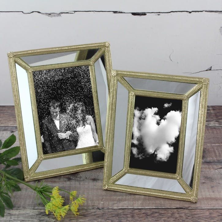 Mirrored Photo Frame - Large