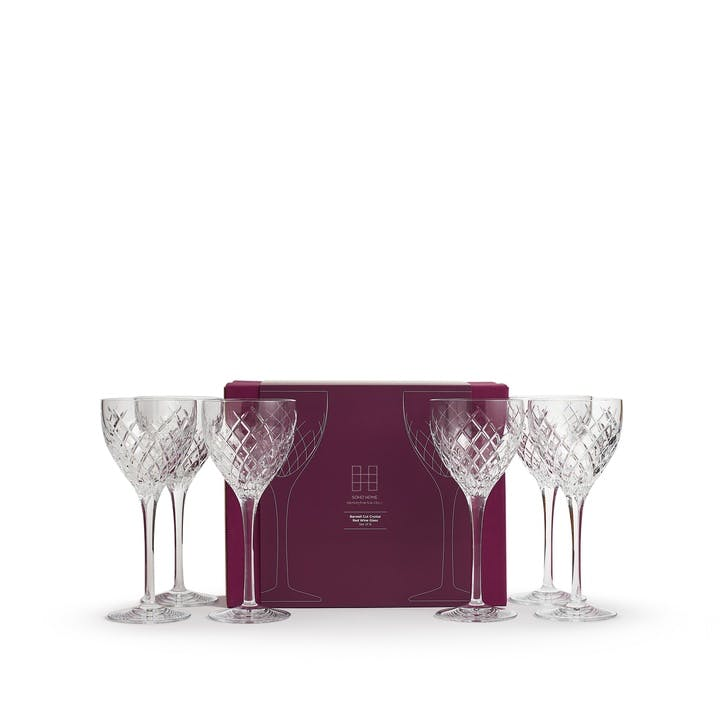 Barwell Cut Crystal Red Wine Glass, Set of 6