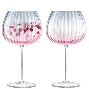 Dusk Goblet, Set of 2, Pink