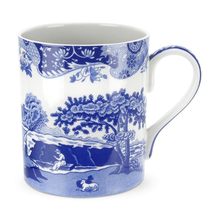 Blue Italian Mugs, Set of 4 - Large