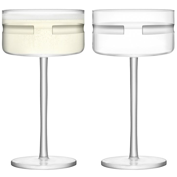 Horizon Champagne Saucer, Set of 2