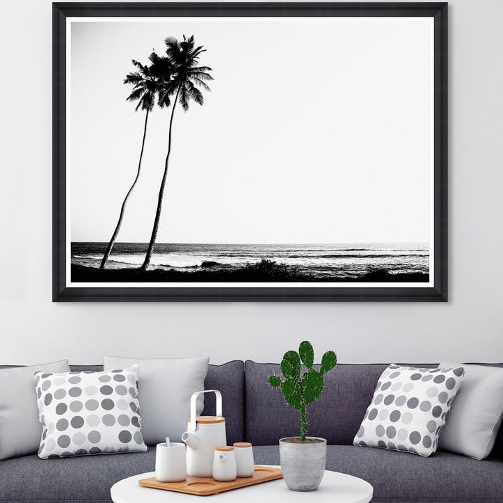 Tropical Dawn Black Framed Print,100 x 70cm
