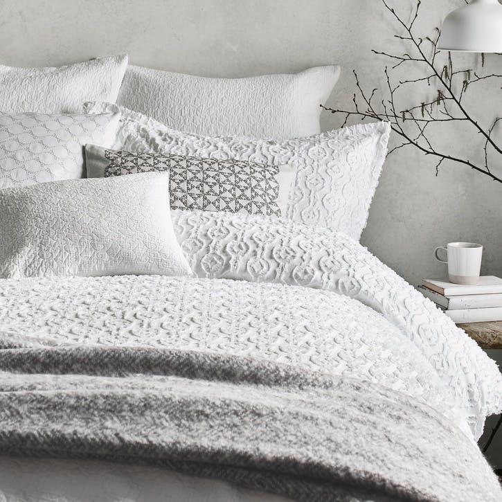 Nara Double Duvet Cover, White