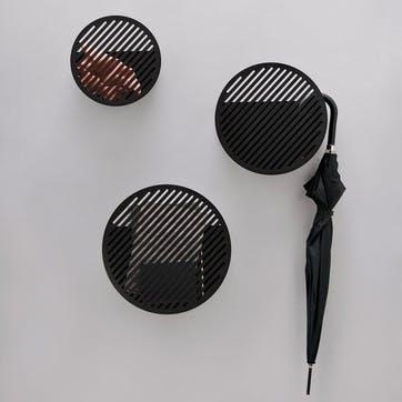 Diagonal, Large Wall Basket, Black