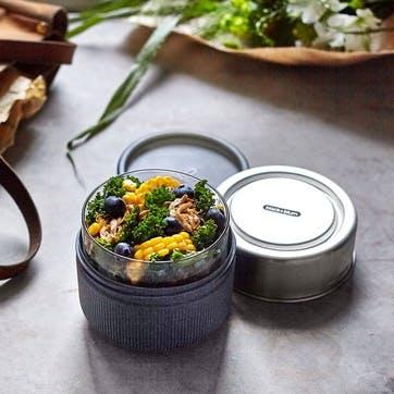 Glass Lunch Pot, 600ml, Slate