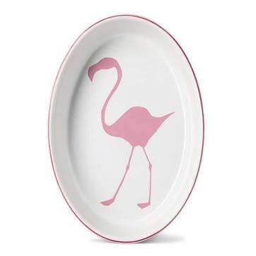 Flamingo Oval Oven Dish