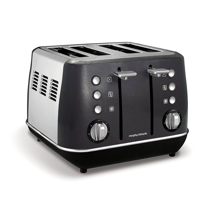 Evoke 4 Slice Toaster; Black