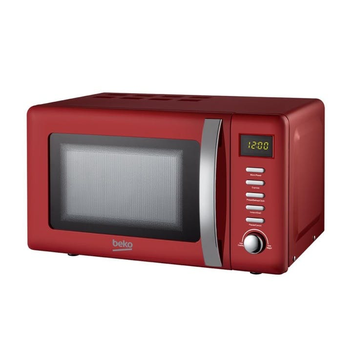 Retro Compact Microwave - 20L; Red