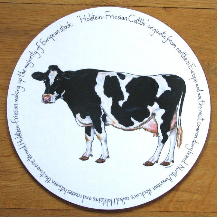 Holstein-Friesian Cow Tablemat - 28cm