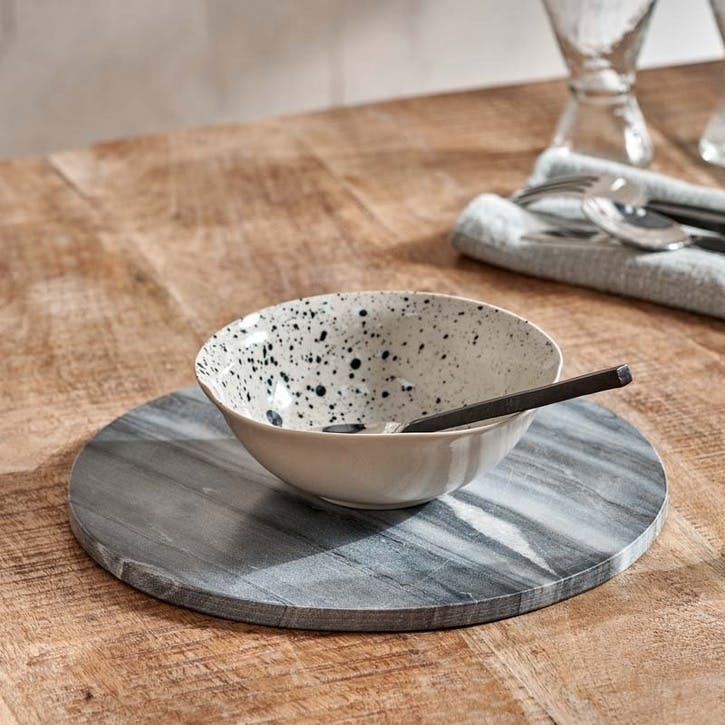 Esa Marble Table Mat, Grey