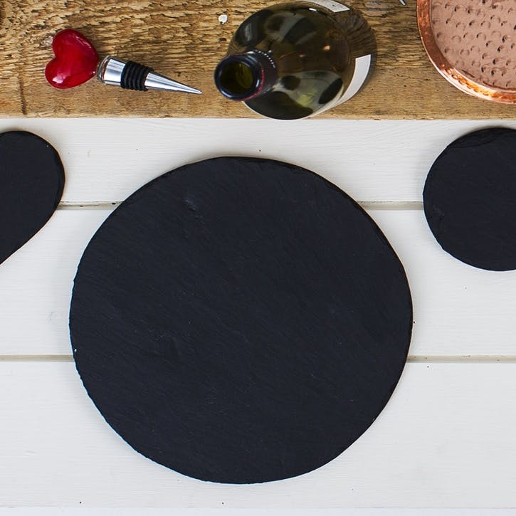 Round Slate Place Mat, Set of 2