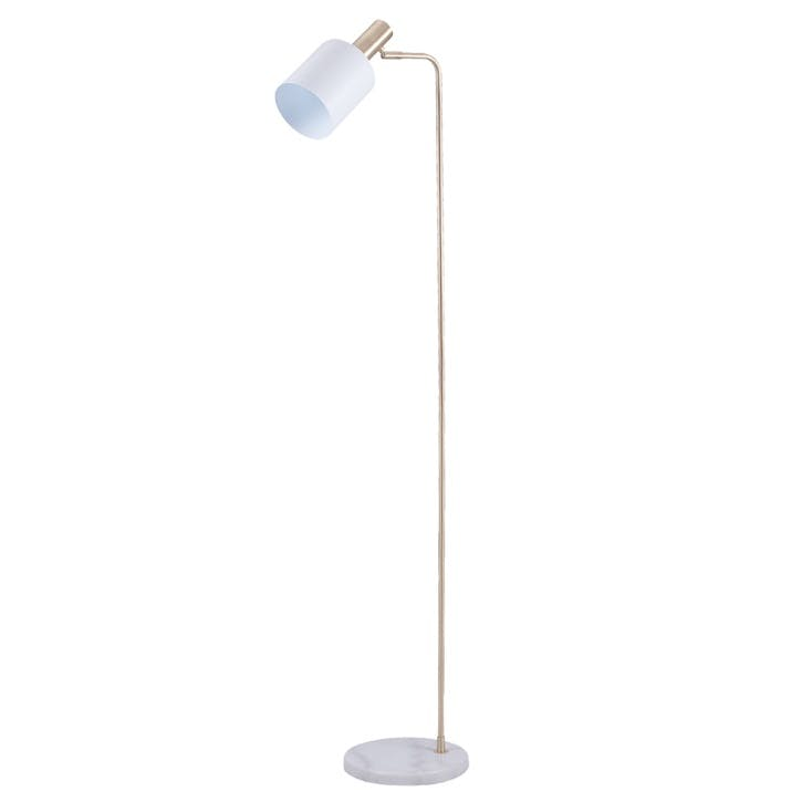 Addison Task Floor Lamp; Marble & Gold