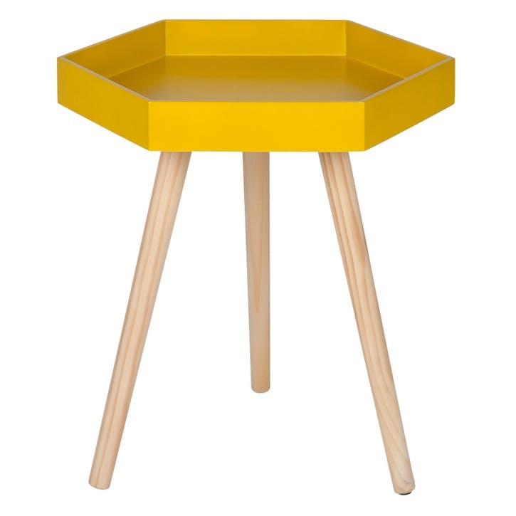 Halston Hexagon Side Table, Large, Mustard