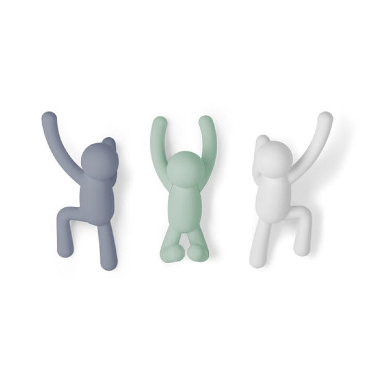 Buddy Hook Set of 3, Assorted Pastel