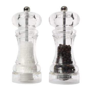 Classic Capstan Salt & Pepper Mill Set, 15cm