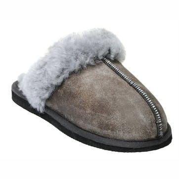 Jessica Ladies Slippers - Size 36; Antique Grey