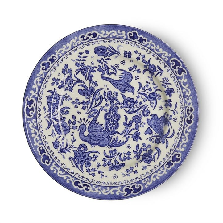 Regal Peacock Plate, 17.5cm, Blue
