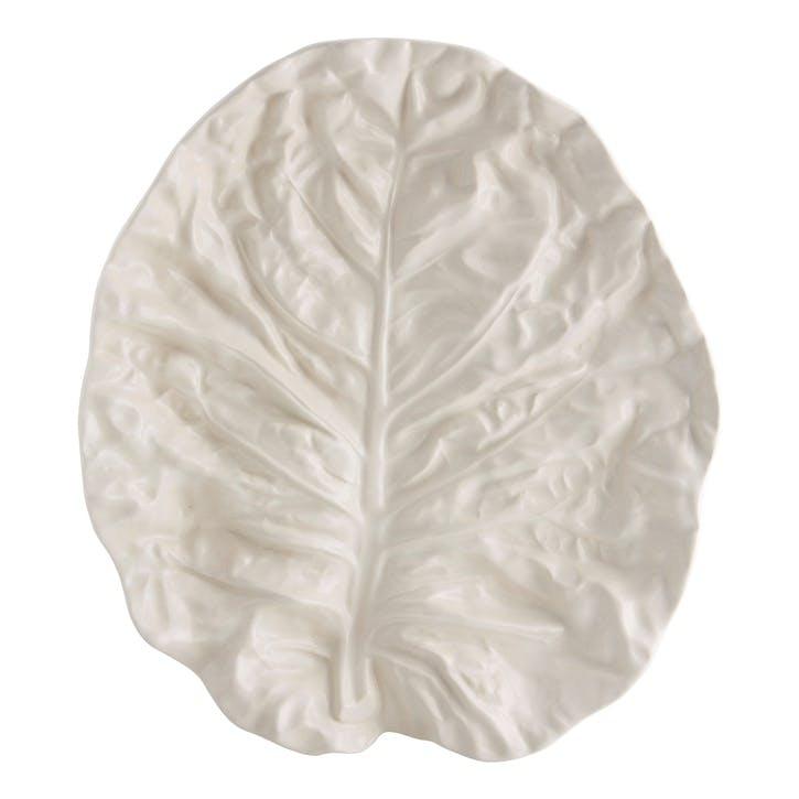 Cabbage Platter, 37cm, Beige