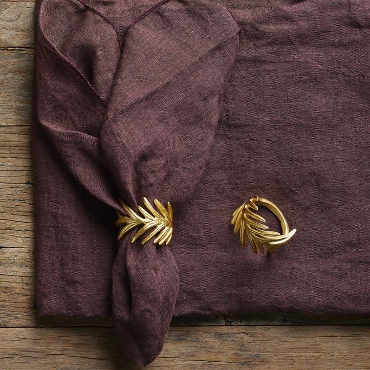 Jewel Linen Tablecloth; Port