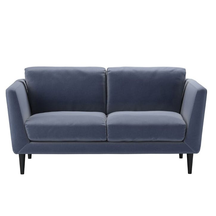 Holly, Two Seat Sofa, Sapphire Smart Velvet