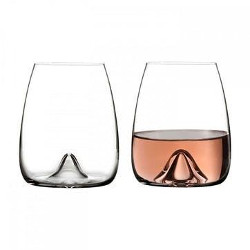Elegance Crystal Stemless Wine Glass, Set of 2