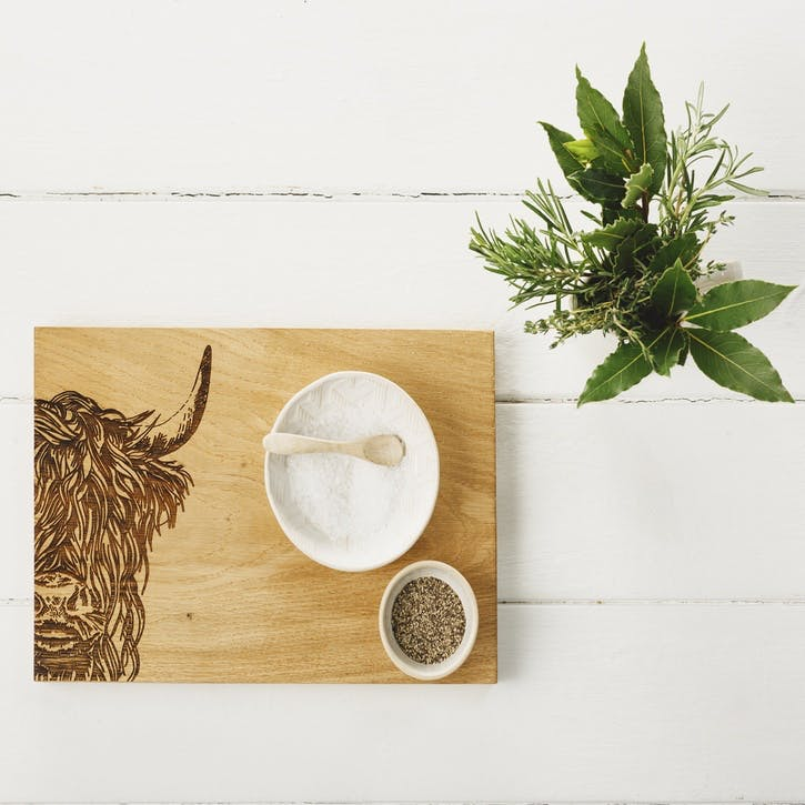 Highland Cow Serving Board