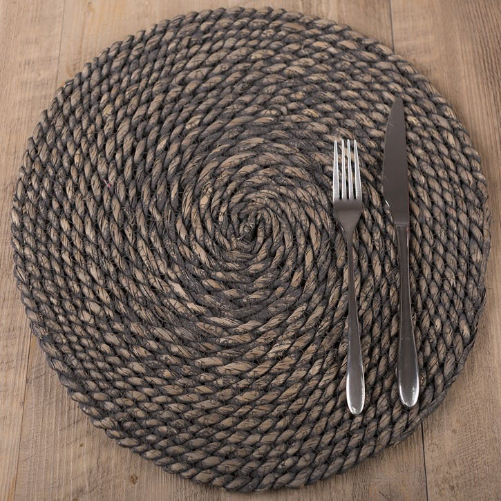 Naturals Greywash Round Serve Mat