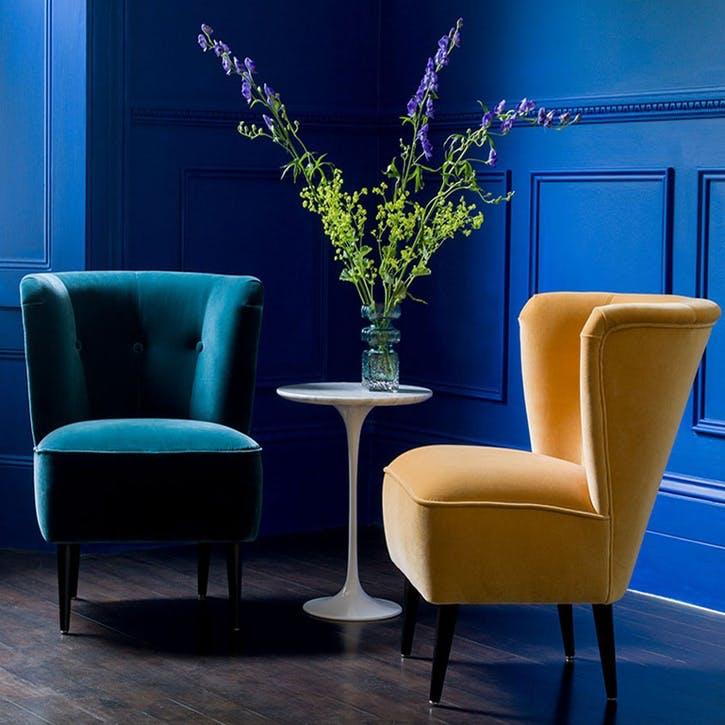 The Betty, Deep Turquoise Cotton Matt Velvet