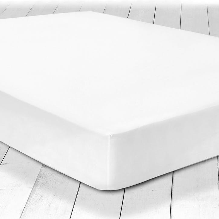 Pure Fitted Sheet, Double, White